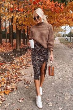 Image kathleen.post | sweater with dress outfit | Looking for some cute dress ideas? Wearing fall dresses and skirts can be a little tricky, but we are here to show you some dresses styles. Our collection of fall dresses outfits gathered some casual fall