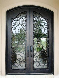 Wrought Iron Special Design Door / Wrought Iron Special Design Door- Ferforje Özel Tasarım Kapı / Wrought Iron Special Design Door WhatsApp Support: 0536 920 4926 – 0532 643 3682 E-Mail: - Double Front Entry Doors, Iron Front Door, Modern Front Door, Wrought Iron Doors, Steel Doors, Entrance Doors, Windows And Doors, Decoration, Villa