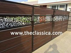 More about main gate fence : By Classica Decorative Design Grill Gate Design, House Main Gates Design, Balcony Grill Design, Steel Gate Design, Front Gate Design, Door Gate Design, Door Design Interior, Main Door Design, Modern Entrance Door