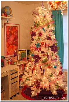 Our Christmas Home Tour - Finding Home Christmas tree for the girls..beautiful and age appropriate!