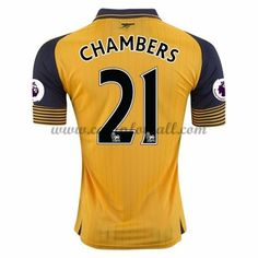 Arsenal Fotballdrakter 2016-17 Chambers 21 Bortedrakt