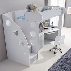 Lit combiné avec bureau et armoire BULLE