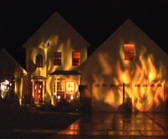 If you are not good at making props for Halloween, try decorating with light. Here is a simple and relatively inexpensive way to make your house ...