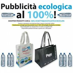 Shopper in PPL riciclato da bottiglie in PET