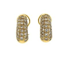 14K Gold Diamond Half Hoop Earrings Featured in our upcoming auction on March 16!