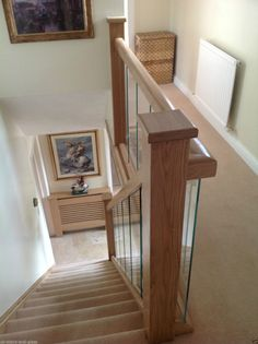 about Glass and Oak Balustrade - Refurbishment Kit Staircase and Landing Picture 4 of Leaf An oak leaf is the leaf of an oak. Oak leaf or Oakleaf may also refer to: Stairs And Staircase, Interior Staircase, Staircase Remodel, Staircase Railings, Staircase Design, Staircases, Staircase Ideas, Stairway, Glass Stairs