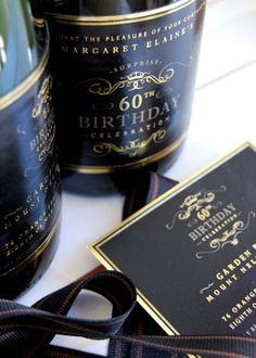 60th Birthday #invitation #design    www.elevenct.co.za