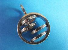 Silver mid-century modernist dimensional circles pendant Kupittaan Kulta Finland