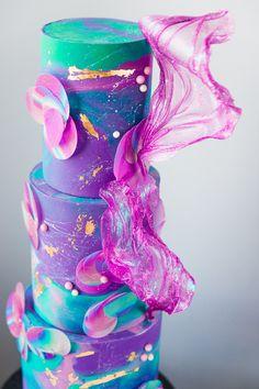 Pretty Cakes, Cute Cakes, Fancy Cakes, Beautiful Cakes, Amazing Cakes, Unique Cakes, Elegant Cakes, Creative Cakes, Bolo Neon
