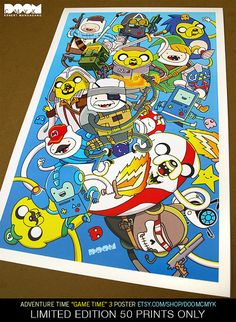 Adventure Time Game Time 3 Poster