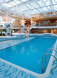 Alaska honeymoon cruise indoor pool
