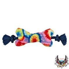 Tug-of-war goes tie dye with a fun Bret Michaels Pets Rock toy – PetSmart $1.97