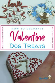 Making and Decorating Homemade Dog Treats just got easy! With this themed workshop kit you will receive everything you need to decorate dog treats like a pro! It includes: Dog Treat Icing that dries hard, a Grain Free Dog Treat Recipe, All Natural Food Colors, and Dog Treat Cookie Cutters. Click the link for more details. #valentinedogtreats #diydogtreats #easydogtreats #grainfreedogtreats #dogtreatrecipes #dogtreaticingthathardens #dogtreats #dogfrosting #homemadedogtreats #dogsafefrosting Dog Treat Icing Recipe, Easy Dog Treat Recipes, Dog Recipes, Doggie Treats, Homemade Dog Treats, Dog Snacks, Dog Bakery, Dog Cookies, Best Dog Food