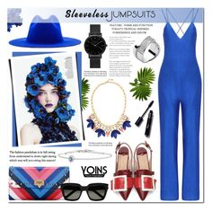 """""""All-in-One: Sleeveless Jumpsuits-Yoins 20"""" by anyasdesigns ❤ liked on Polyvore featuring Études, Yves Saint Laurent, Stella & Dot, Daou and Michael Kors"""