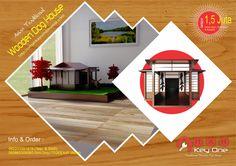 Asian Traditional Wooden Dog House Rumah Jepang II