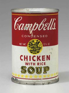 Andy Warhol (1928-1987)  Campbell's Chicken with Rice Soup