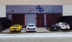 PAPERMAU: Punto Azul Restaurant Diorama Paper Model For Miniatures In 1/64 Scale - by Marco Antonio Checa Funcke