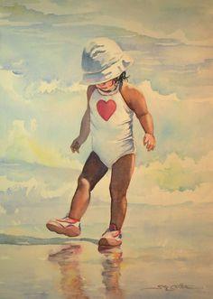 Wet Beach Steps ~ Sue Lynn Cotton