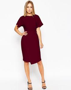 Image 1 ofASOS Plain D-Ring Dress with Asymmetric Skirt