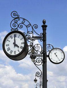 Ornate Vintage Clock Canvas Print / Canvas Art by Angela Bonilla