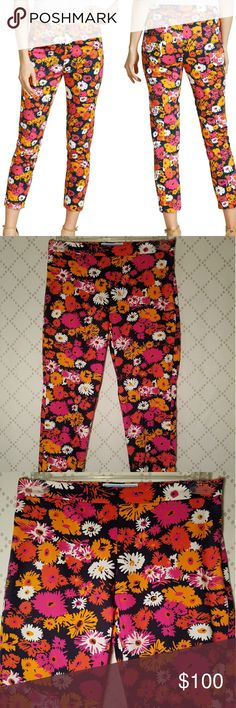 """DRAPER JAMES Darlin' Daisy Knoxville Ankle Pants NEW Cotton floral ankle pants in Darlin' Daisy print with flat front and hidden side zip; 97 cotton 3 spandex; 15"""" waist measured flat 10"""" Rise 26"""" inseam 6"""" ankle opening Draper James Pants Ankle & Cropped"""