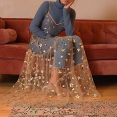 Summer Sweet Tulle Spaghetti Straps See Through Long Women Dresses Fashion Bling Bling Dress - Mode Trend Fashion Kids, Look Fashion, Womens Fashion, 90s Fashion, Fashion Belts, Lolita Fashion, Unique Fashion, Fasion, Hijab Fashion