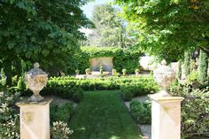 Outside garden scenes at Bastide des Jardins 💜 In a quiet country setting on a hillside, this property offers incredible views in all… Garden Urns, Garden Paths, Garden Landscaping, Outdoor Garden Rooms, Outdoor Gardens, Fresco, Provence, My Secret Garden, Secret Gardens