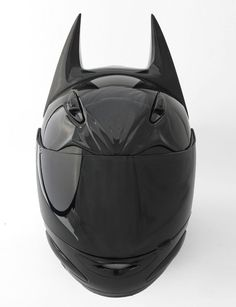 Batman motorcycle helmet. One of the ultimate skid lids for geeks. Philip found it-- dad and he can fight over who gets to wear it (there's a predator one too)