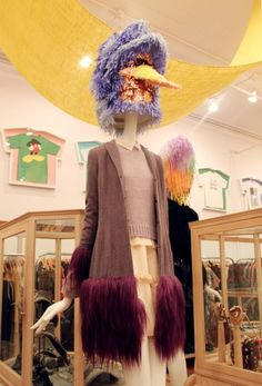 CONFETTISYSTEM for Opening Ceremony. Custom fringed exotic bird head in  OCNY at 35 Howard. Photo by CONFETTISYSTEM.