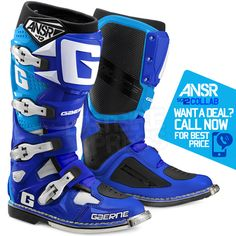 2016 Gaerne SG12 Boots - Ltd Edition Answer Collab Blue Cyan