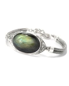 Samuel B. Silver 22.00 ct. Labradorite Toggle Bracelet is on Rue. Shop it now….love Labradorite…it's my new favorite gemstone….so cool