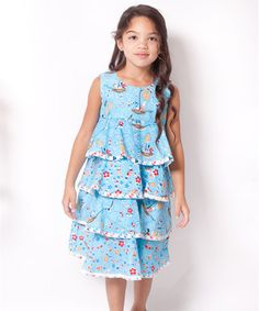 This Aqua Hey Sailor Twirl Dress - Infant, Toddler & Girls by Jelly the Pug is perfect! #zulilyfinds