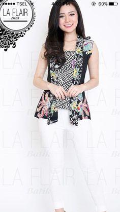 Batik blazer-blouse