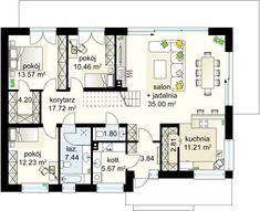 Zacisze 5 NF40 projekt - Parter 125.95 m²