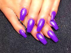 Purple coffin nails  Styliztik nailz by sarah