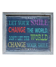 Smile Wall Art | zulily
