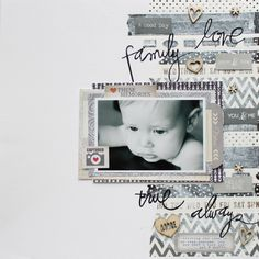 Chic Tags Challenge Sunday. I would a thin border of the same on the left hand side for balance and visual interest.