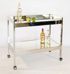 Roland Bar Cart | Worlds Away Interior Homescapes Comes in silver or gold $950.00
