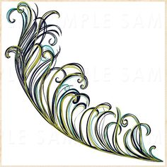 50 Sale Peacock Feather Clip Art Feather ClipArt by FishScraps