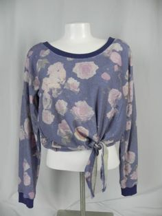 Deb-Blue-and-Pink-Floral-Knit-Long-Sleeve-Font-Tie-Blouse-D1-12