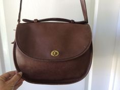 Vintage COACH 053-3106 Made in USA Leather Flap Turnkey Crossbody Shoulder Bag #Coach #MessengerCrossBody