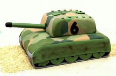 Army Tank Cake, this one looks a little more difficult