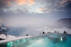 I love destination hotels. I sometimes travel every now and then just because I want to stay in a truly remarkable hotel. Hotel Villa in Honegg in Switzerland is . Hotel Villa Honegg Switzerland, Switzerland Hotels, Lucerne Switzerland, Infinity Pools, Poseidon Undersea Resort, Resorts, Piscina Do Hotel, Places To Travel, Places To Go