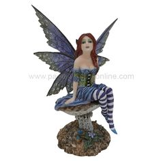 Fairy Art Artist Amy Brown: The Official Online Gallery. Fantasy Art, Faery Art, Dragons, and Magical Things Await. Fairy Statues, Gnome Statues, Fairy Figurines, Dragon Figurines, Pastel Pixie, Amy Brown Fairies, Forest Creatures, Fairy Art, Art Google