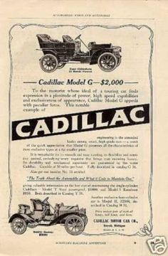 Cadillac Cars (1908) #Car #Poster and #Ads