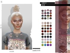 Sims 4 Hairs ~ The Sims Resource: Lonely Hair by Leah Lillith The Sims 4 Pc, Sims 4 Teen, Sims Four, My Sims, Sims Cc, Sims 4 Game Mods, Sims 4 Mods, Sims 4 Black Hair, Pelo Sims