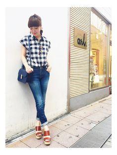 rich -Osaka EST-|minamiさんのシャツ/ブラウス「ブロックチェック 半そでシャツ」(rich|リッチ)を使ったコーディネートです。