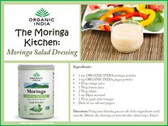 Try this Moringa Salad Dressing for a burst #superfood nutrition! Moringa is considered one of the most complete, nutrientdense plants on Earth. Moringa is loaded with over 90 nutrients, 46 #antioxidants, abundant minerals, #protein, beta-carotene, Vitamin C, and a full amino acid profile!