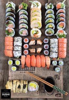 Alkaline Cookbooks & Recipes New Launch 2013 Sushi Recipes, Asian Recipes, Healthy Recipes, I Love Food, Good Food, Yummy Food, Sushi Platter, Food Platters, Food Goals