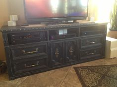 Turned a Dresser into TV Stand JustBeKoz